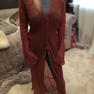 Gorgeous Relais knit sweater full length Small